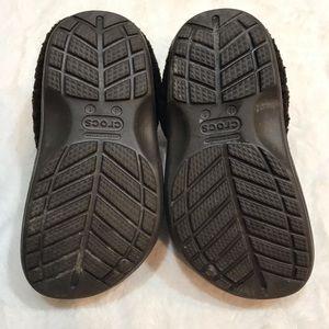 CROCS Shoes - Kids Crocs Fleece Brown